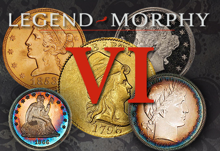 Legend-Morphy's Sixth Regency Rare Coin Auction Excites with over $2.5 Million, Brings Big Numbers on Gold