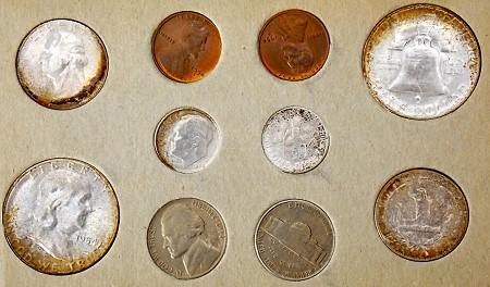 lf set2 Original U.S. Mint issued Double Mint Sets 1947 1958