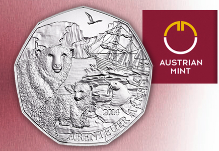 Austrian Mint's Polar Bears at the Schönbrunn Zoo 5-Euro Commemorative Coin Debuts