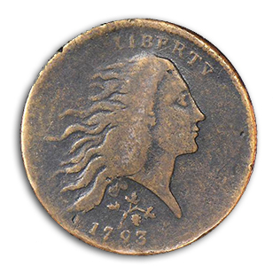 strawberry1 Two of Four Known Strawberry Leaf Large Cents Sell in the FUN Auction of the Mervis Collection