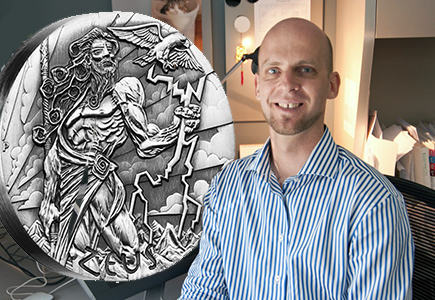 Exclusive Interview with Perth Mint's Zeus Silver Coin Designer Tom Vaughan