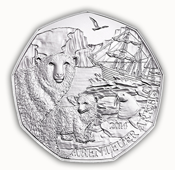 zoo Austrian Mints Polar Bears at the Schönbrunn Zoo 5 Euro Commemorative Coin Debuts