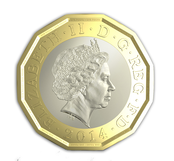 2014pound The Royal Mint to Manufacture Modern New British Pound Coin
