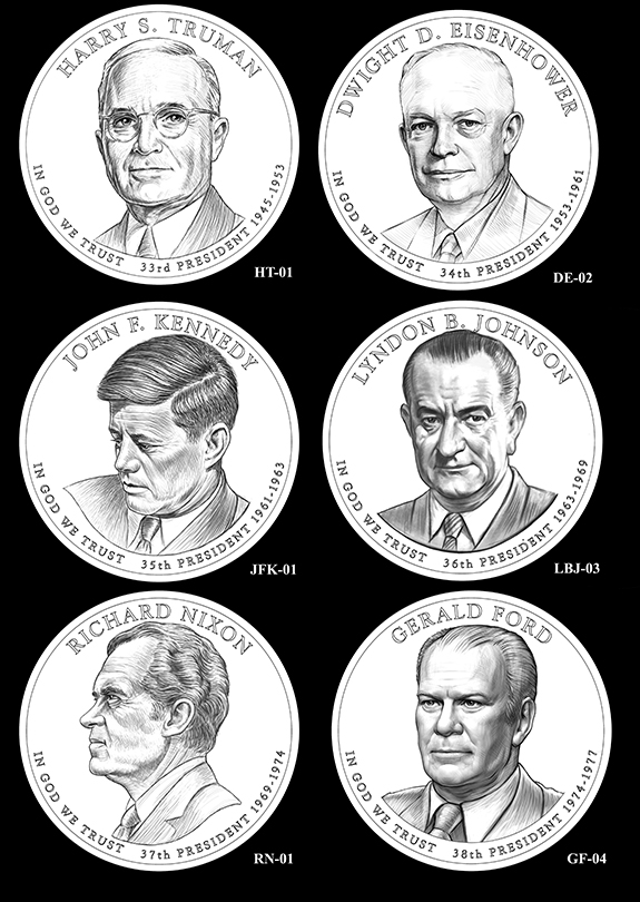 Presidential dollar From Truman to Ford: Presidential Dollar Designs Unveiled