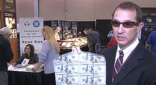 $100 Bill Sheets Offered to the Public at ANA National Money Show. VIDEO: 3:38