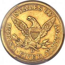 dahlonega31 275x275 Dahlonega, Georgia Mint Half Eagles ($5 gold coins) of 1861