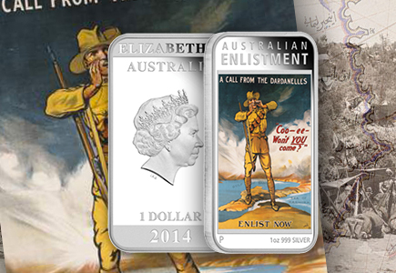 Australian Posters of World War I Celebrated on New Perth Mint Coins