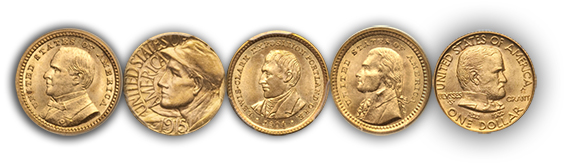 goldcommem2 Rare Gold Coins for less than $5000 each, Part 2: Commemorative One Dollar Gold Pieces