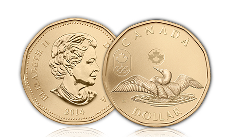 loonie Royal Canadian Mint Congratulates Canadas Paralympic Team with Lucky Loonies