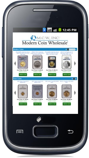 Modern Coin Wholesale Announces Launch of Mobile Website and Expands Reach into Classic Rare Coins