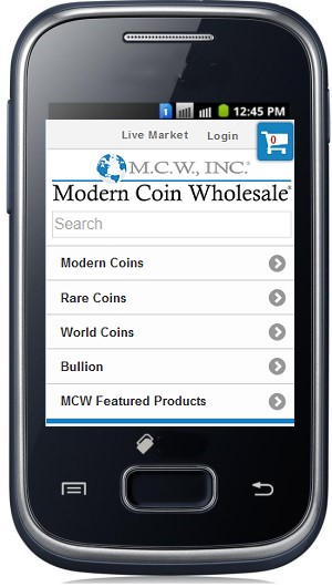 mcw phone Modern Coin Wholesale Announces Launch of Mobile Website and Expands Reach into Classic Rare Coins