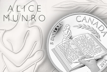 2013 Nobel Prize Winner Alice Munro Celebrated on New Canadian Silver Coin