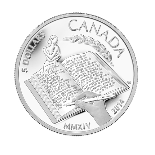 munro3 2013 Nobel Prize Winner Alice Munro Celebrated on New Canadian Silver Coin
