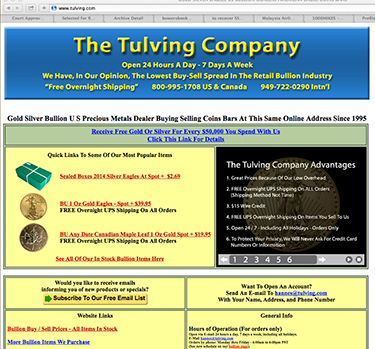 tulving1 Questions Loom as Precious Metals Firm The Tulving Company Folds