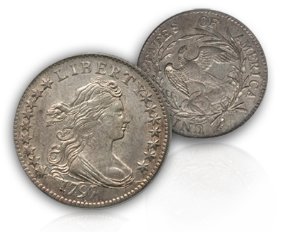 1797ms621 1797 Dimes 'in the news' and general information for collecting Draped Bust Dimes