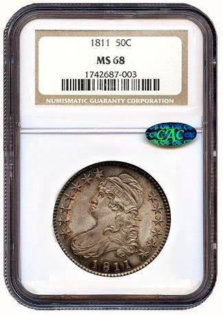 1811 50c fun2011 Early April Not Taxing On World Coins   Pair of Auctions Reel In Over $20 Million!