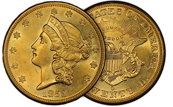 1852o2 First Read: U.S. Liberty Head $20 Double Eagles: The Gilded Age of Coinage