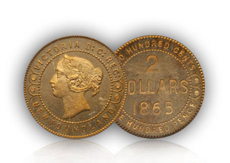 2doll2 1865 Canadian gold pattern coin could bring $80,000 in $10+ million Heritage CICF World & Ancient Coins auction