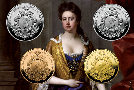 anne The Royal Mint Unveils 300th Anniversary of the Death of Queen Anne UK £5 Coin