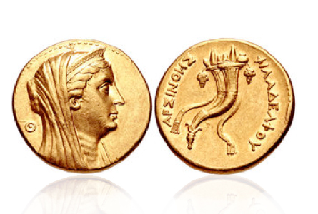arsinoeiia The First Real Woman to Appear on a Coin