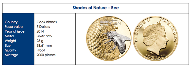bee1 Three New Cook Island Collector Coins: Bees, Painting, and the PGA