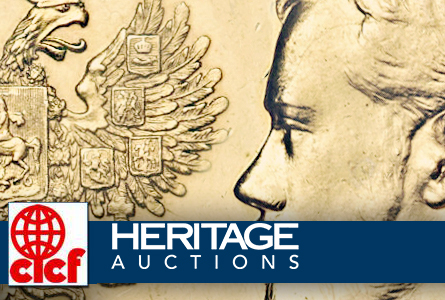 Czar Nicholas II 25 Roubles sets record at Heritage's CICF world and ancient coin auction