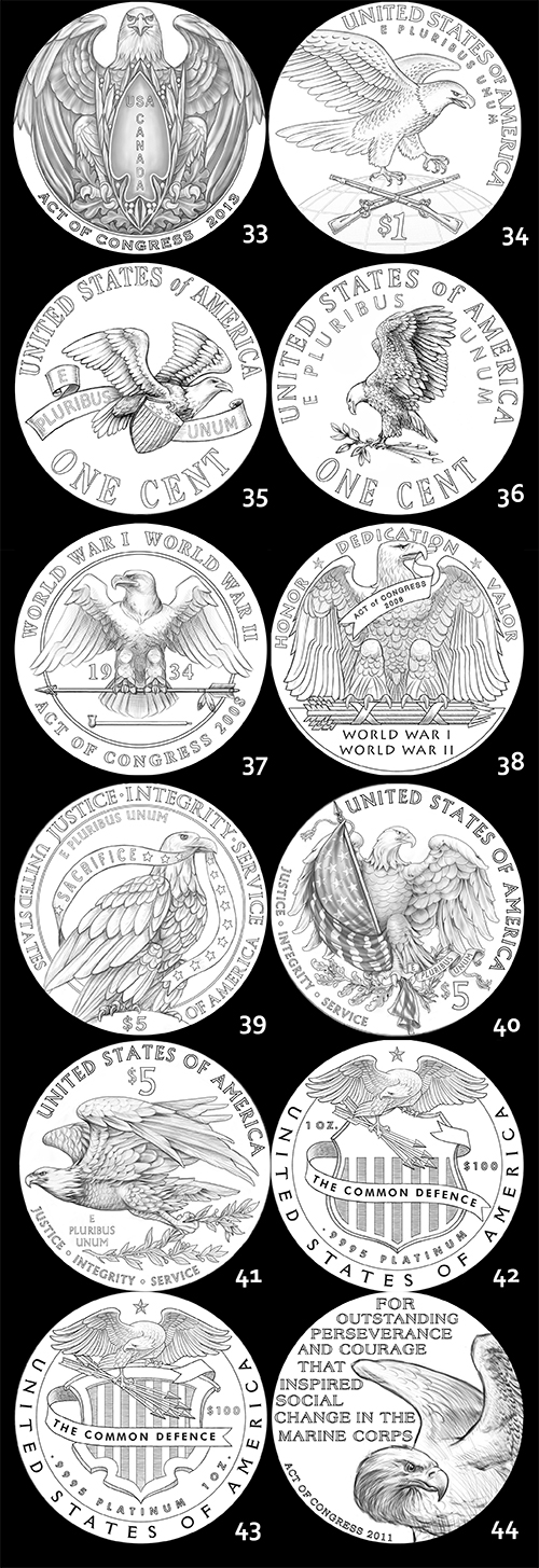 eagle6 The Coin Analyst: CCAC Recommends New Reverse Design for American Silver Eagle Program