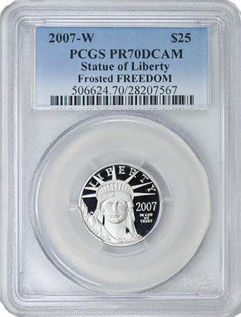 freedom21 Rare Frosted Freedom Platinum Eagle Variety Offered by GreatCollections