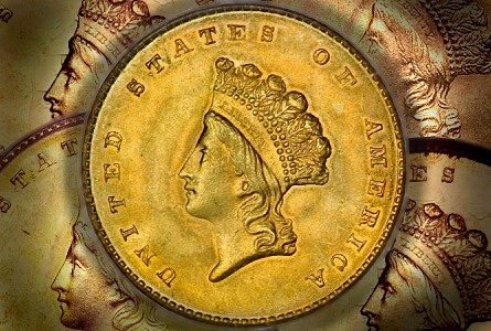 gold dollars 1 Rare Gold Coins for less than $5000 each, Part 3:  19th Century One Dollar Gold Pieces