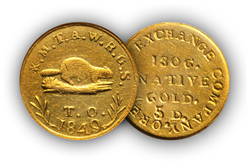 "reynolds1 ""The Riverboat Collection"" of Private & Territorial gold coins to make big waves at Central States Auction"