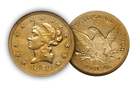 "reynolds2 ""The Riverboat Collection"" of Private & Territorial gold coins to make big waves at Central States Auction"