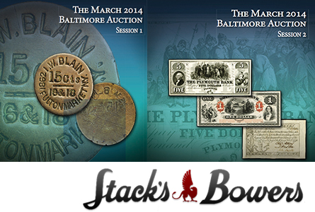 Nobel Peace Prize Shines as Medals and Coins bring big numbers at Stack's March Baltimore Expo Auction