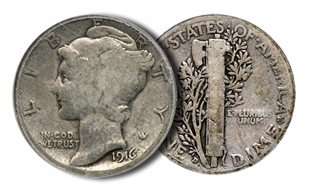 1916d1 Copper and Silver Key Date U.S. Coins in Goldbergs Auction Next Week