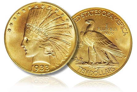 1933 10 eagle Top Ten U.S. Gold Trophy Coins and their Pitches