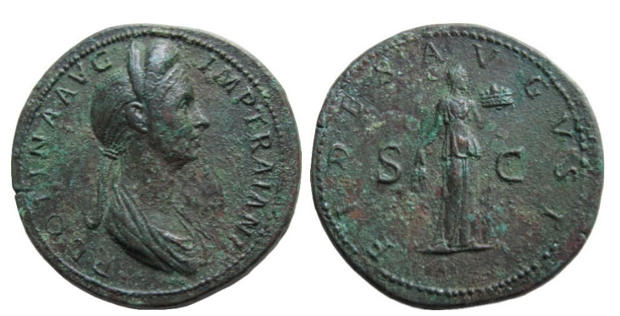 Plotina Sestercius2 Ancient Coin Stories: A Rare Plotina Sestercius