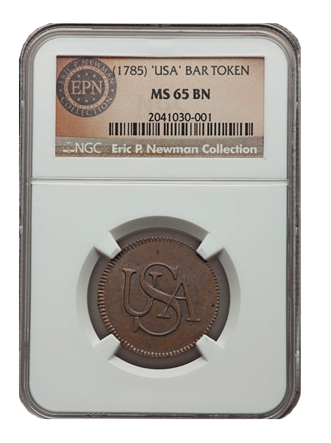 bar2 The Fabulous Eric P. Newman Collection, part 11: Auction Results for pre 1793 coins, patterns and tokens