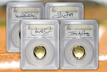 The Coin Analyst: Baseball Hall of Fame Signature Labels