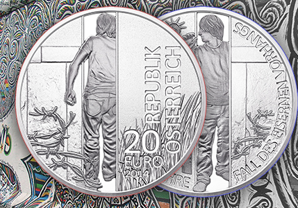 Fall of Berlin Wall Coin Issued by Austrian Mint