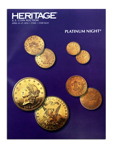 cnsnplatinum1 The Riverboat Collection of Private & Territorial gold coins, part 2: Auction Results