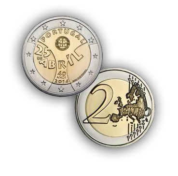 euro2 New Portuguese 2 Euro Coin Celebrates 40th Anniversary of Revolution