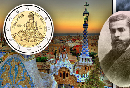 Spanish 2014 Mint Sets Include 2 Euro Coin Honoring Antonin Gaudí's Park Güell