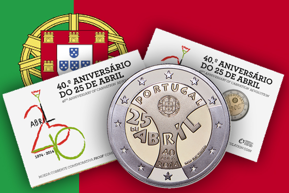 New Portuguese 2 Euro Coin Celebrates 40th Anniversary of Revolution