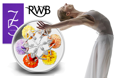 75th Anniversary of The Royal Winnipeg Ballet Coin Revealed