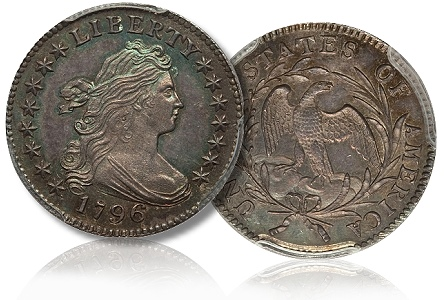 1796 jr1 10c p67cac Star of the Gardner Sale in NY was the 1796 10C MS67 PCGS. CAC bringing $881,250