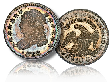 1822 10c gardner The Incredible Eugene Gardner Collection, part 2: Famous Coins in the June 23rd Auction
