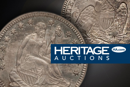 1871cc Rare Gem 1871 CC Quarter to be Sold by Heritage June 23