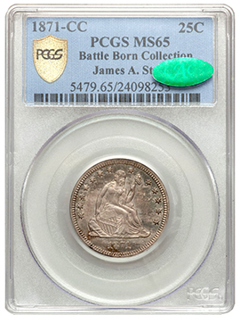 1871cc1 Rare Gem 1871 CC Quarter to be Sold by Heritage June 23