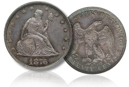 1876cc 20c gardner The Incredible Eugene Gardner Collection, part 2: Famous Coins in the June 23rd Auction
