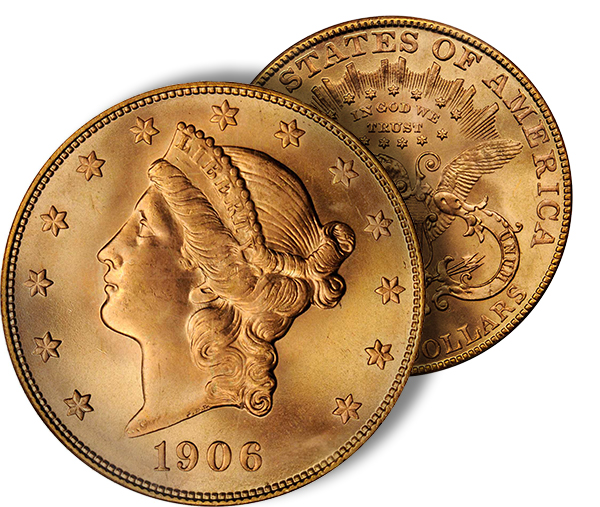 1906s20 SBG to Auction Important Condition Rarity: The Eliasberg, Probable Finest Known 1906 S Double Eagle ($20 gold coin)