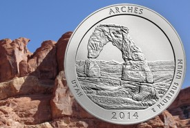 archesquarter 275x185 Arches National Park Quarter Released at Utah Ceremony
